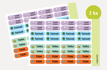 Samolepící jmenovky pro tatínky